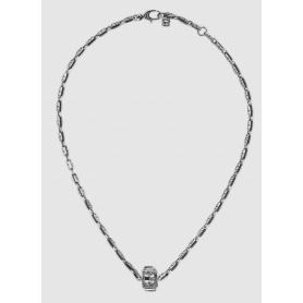 Gucci Halskette mit G Quadro Würfel in Silber - YBB550926001