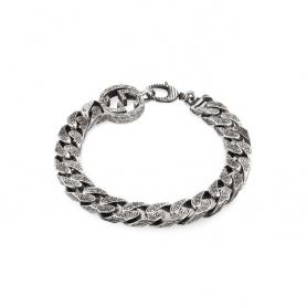 Bracciale Gucci unisex GG con catena in argento - YBA454285001