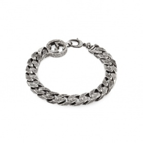 Gucci unisex GG bracelet with silver chain - YBA454285001