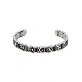 Bracciale Gucci rigido con Doppia G in argento - YBA551903001