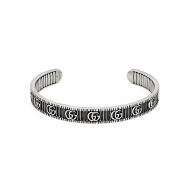 Silver Gucci rigid bracelet with Double G - YBA551903001