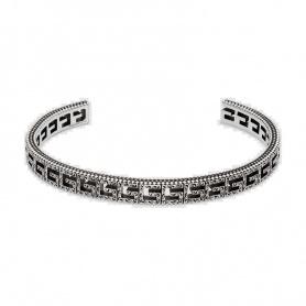 Bracciale Gucci G Quadro in argento rigido - YBA576990001