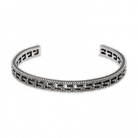 Gucci G Quadro bracelet in rigid silver - YBA576990001