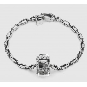 Gucci bracelet with G Quadro cube in silver - YBA550888001