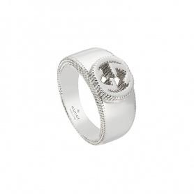 Anello Gucci unisex con logo GG argento - YBC479228001