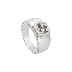 Unisex Gucci ring with silver GG logo - YBC479228001