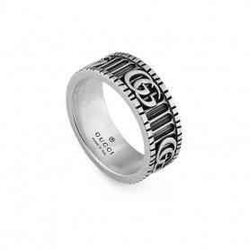 Anello Gucci unisex con Doppia G in argento - YBC551899001