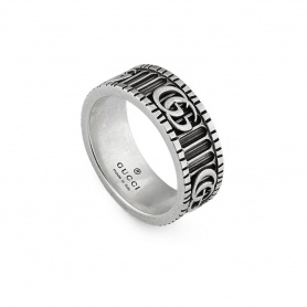 Gucci unisex ring with Double G in silver - YBC551899001