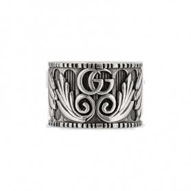 Anello Gucci unisex con Doppia G in argento - YBC551895001