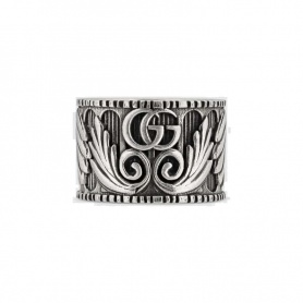Gucci unisex ring with Double G in silver - YBC551895001