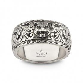 Anello Gucci unisex con dettaglio felino - YBC433571001