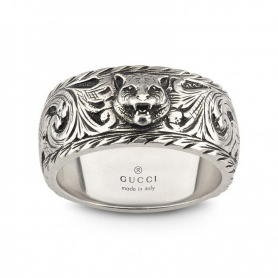 Unisex Gucci ring with feline detail - YBC433571001