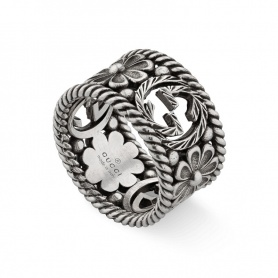 Gucci woman ring with flower motif - YBC577272001