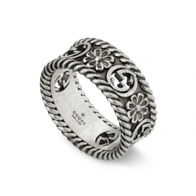 Gucci woman ring with flower pattern - YBC577263001