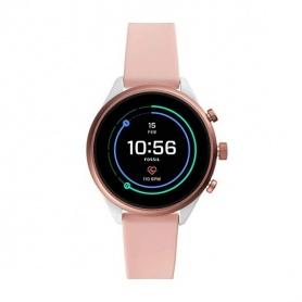 Fossil Smartwatch Sportuhr weiß und pink - FTW6022