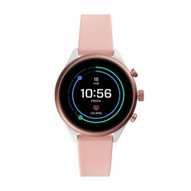 Orologio Fossil Smartwatch sport bianco e rosa - FTW6022