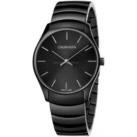 Calvin Klein Classic schwarz eloxiert Uhr - K4D21441