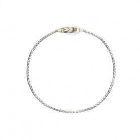 Bracciale spiga Queriot in argento e oro - B18A00SF1