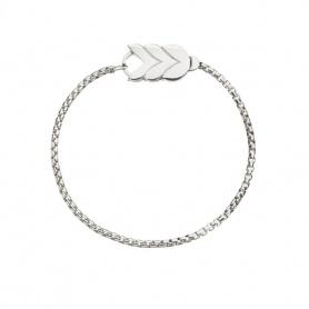Spiga big silver Queriot bracelet - B18A00SPG