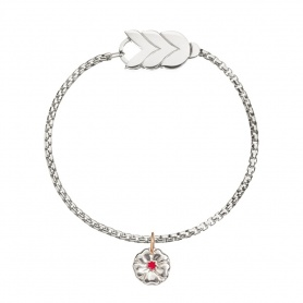Spiga big silver Queriot bracelet with Tribute