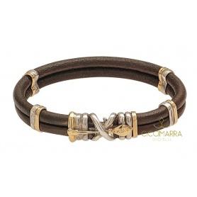 Bracciale Misani gioielli doppio filo con freccia