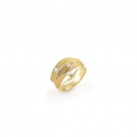 Annamaria Cammilli Dune ring in yellow gold GAN1942U