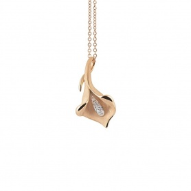 Annamaria Cammilli Calla Lily necklace in gold orange-GPE0197J