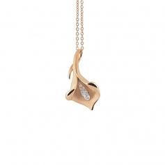 Annamaria Cammilli Calla Lily necklace in gold orange-GPE0197J