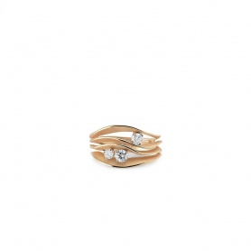 Annamaria Cammilli Dune Precious ring in orange gold