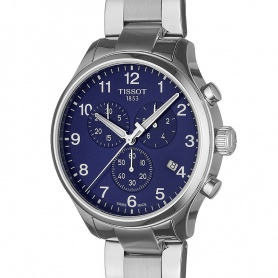 Tissot Chrono XL Classic blue steel watch - T1166171104701