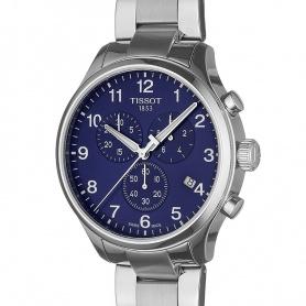 Tissot Chrono XL Classic Uhr aus blauem Stahl - T1166171104701