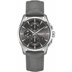 Hamilton Jastmaster chronograph automatic leather watch - H32586881