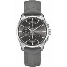 Hamilton orologio Jastmaster crono automatico pelle - H32586881