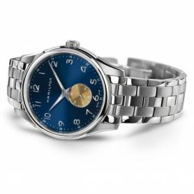 Hamilton Uhr Jazzmaster Thinline klein blau Stahl - H38411140