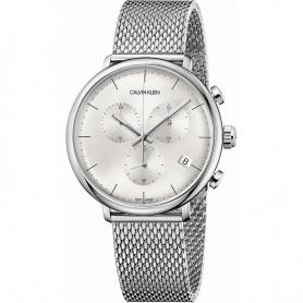 Orologio Calvin Klein cronografo High Noon silver - K8M27126