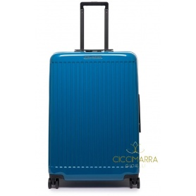 Trolley Piquadro medium four wheels rigid blue Seeker BV4427SK70 / BLU