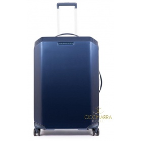 Piquadro medium four-wheeled trolley hard blue PiQ3 - BV4427CB / BLU