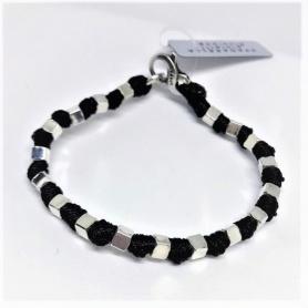 Spadarella Man Seil Armband mit Silberwürfeln - SPBR293