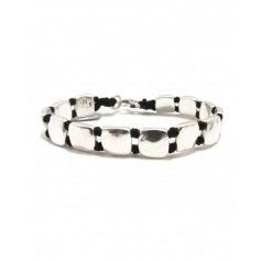 Spadarella Man Armband mit silbernen Quadraten - SPBR369