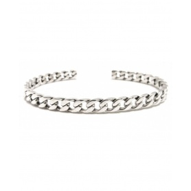 Spadarella Man bracelet bangle chain motif in silver - BR501