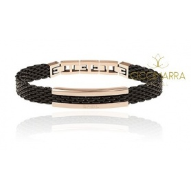 Breil men's bracelet in Snap black steel - TJ2743