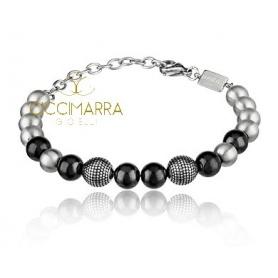 Breil Shungite bracelet with B Fence TJ2777 steel balls