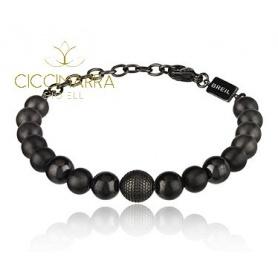 Breil Shungite bracelet with B Fence TJ2776 steel balls