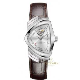 Hamilton Ventura Open Heart Silber Auto Uhr H24515552