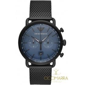 Emporio Armani Uhr Mann Chrono Mesh schwarz AR11201