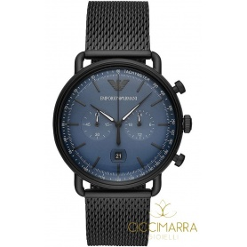 Emporio Armani watch man Chrono Mesh black AR11201
