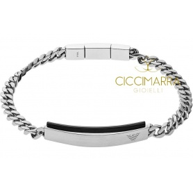 Emporio Armani man black steel bracelet - EGS2540040