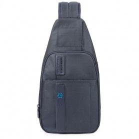 Single shoulder Piquadro P16 blue - CA4827P16 / CHEVBLU