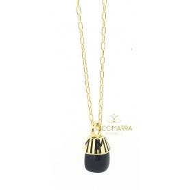 Connana con pendente Mimì Tam Tam onice ed oro giallo - PXM372G8O