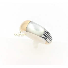 Mimì Tam Tam medium gold band with mother of pearl